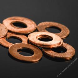 Rondelles Bronze Beryllium 0,2mm pour Axes 4mm