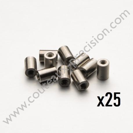 Axes 4mm taraudage M3 par 25 pcs
