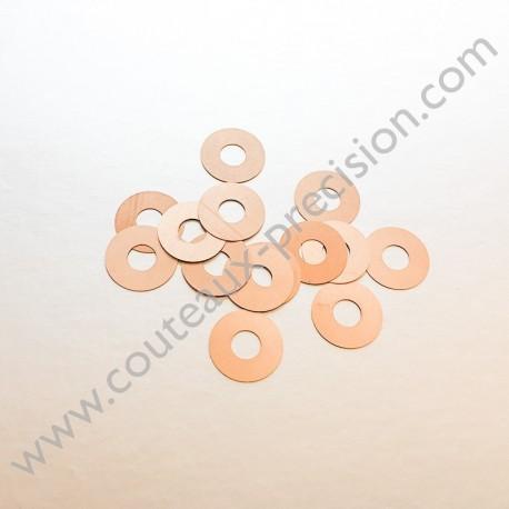 Rondelles Bronze Beryllium 0,1mm pour Axes 4mm