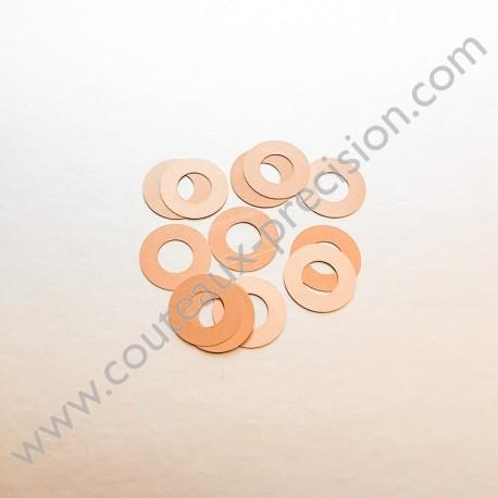 Rondelles Bronze Beryllium 0,1mm pour Axes 5mm
